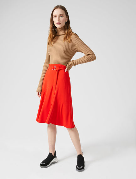 Block Colour Ripple Skirt Sportmax