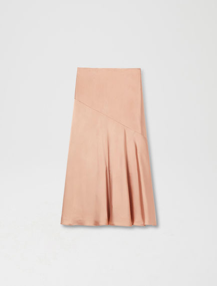 Fluted Satin Midi Skirt Sportmax