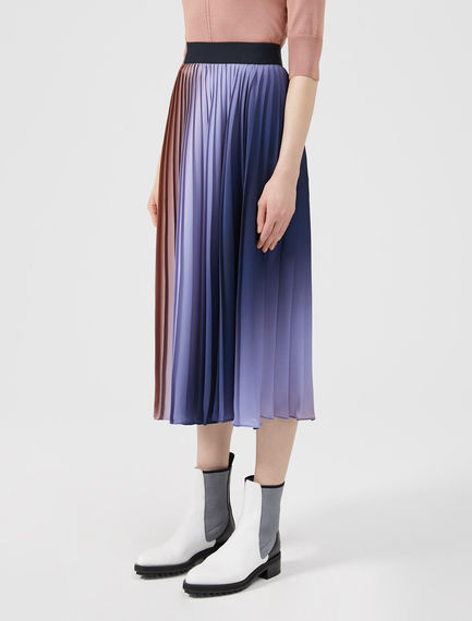 Technicolour Pleated Skirt Sportmax