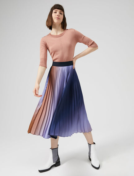 Gonna plissé technicolor Sportmax