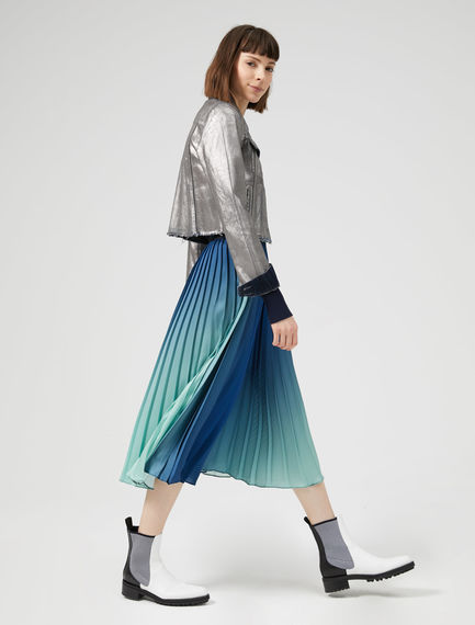 Technicolour Pleated Skirt