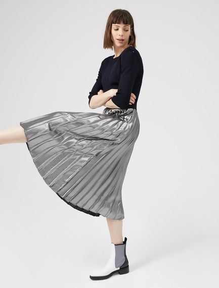 Metallic Pleated Skirt Sportmax