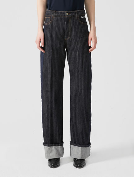 Loose-fit Pinstripe Jeans