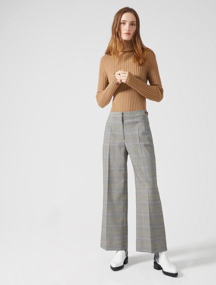 Wide Leg Check Trousers Sportmax