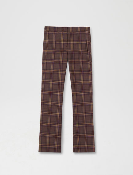 Checked Kick-Flare Trousers