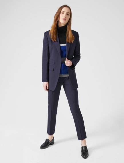 Lightweight Wool Cigarette Trousers