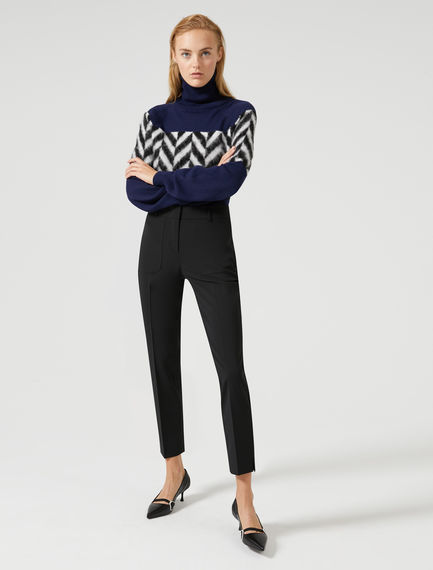 Lightweight Wool Cigarette Trousers Sportmax