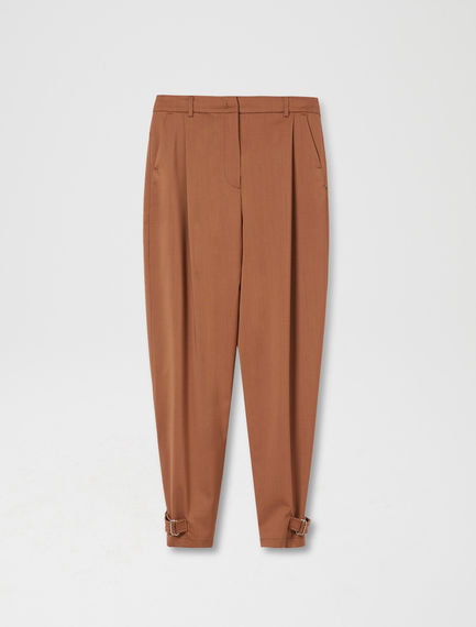 Buckled Wool Utility Trouser