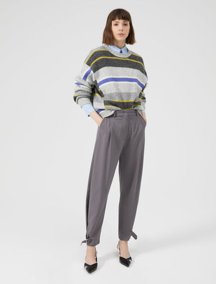 Buckled Wool Utility Trouser Sportmax