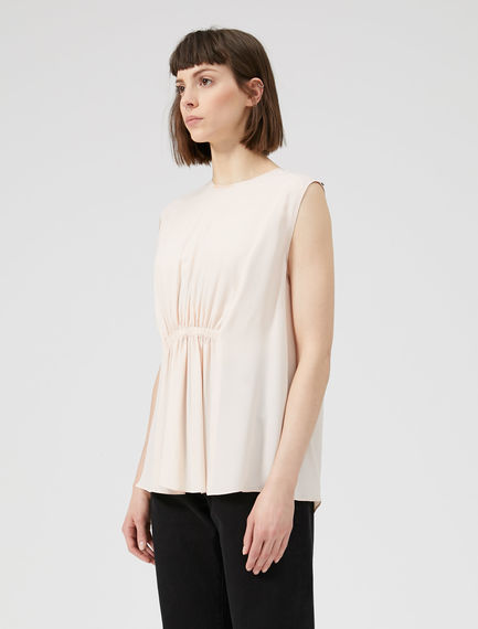Ruched Crêpe de Chine Top Sportmax