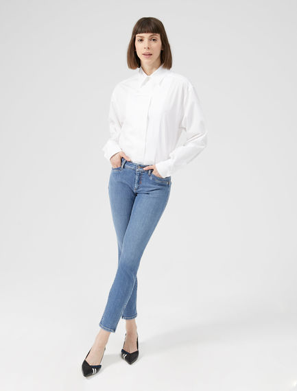 Zipped Ankle Skinny Jeans Sportmax