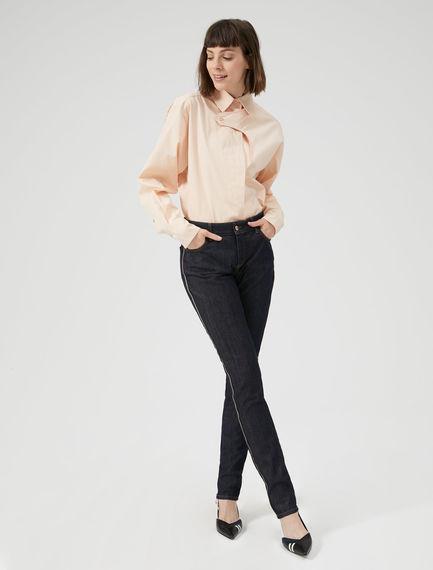 Jeans skinny con righe laterali Sportmax