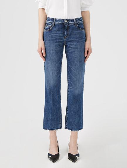 Jeans kick-flare con intarsio
