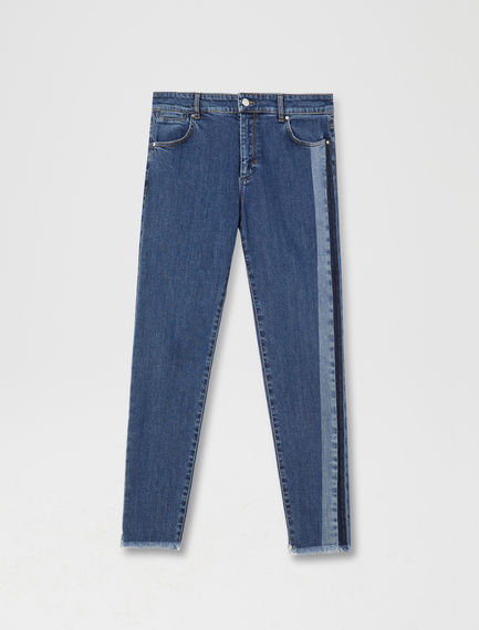 Athletic Stripe Cigarette Jeans