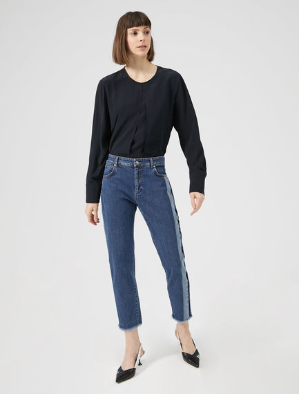 Athletic Stripe Cigarette Jeans Sportmax