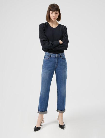 Laminated Cuff Boyfriend Jeans Sportmax