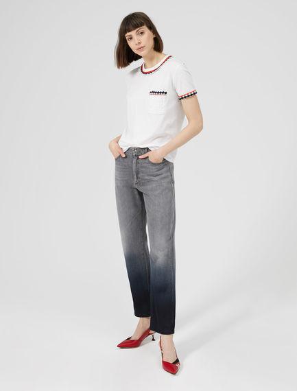 Grey Ombre Boyfriend Jeans