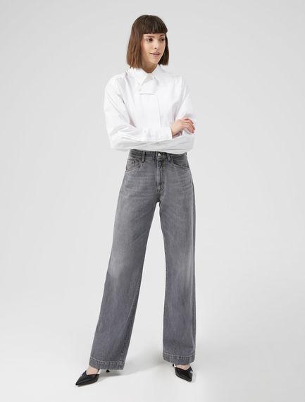 Grey Wide Leg Jeans Sportmax