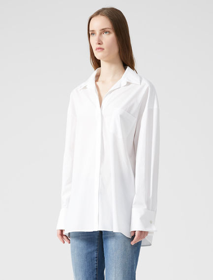 Double Cuff Cotton Poplin Shirt