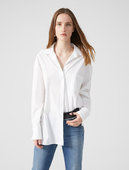 Double Cuff Cotton Poplin Shirt Sportmax