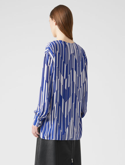 Chevron Stripe V-neck Top