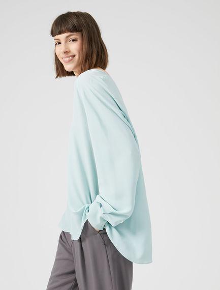 Raglan Sleeve Silk Crêpe Blouse Sportmax