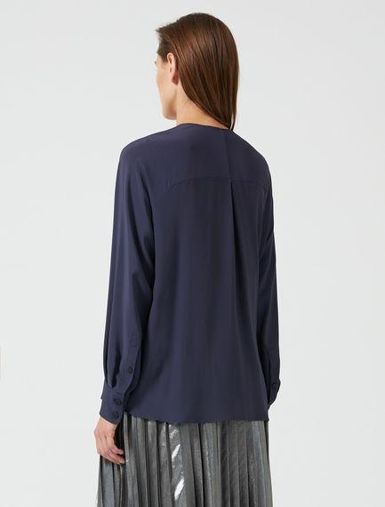 Raglan Sleeve Silk Crêpe Blouse
