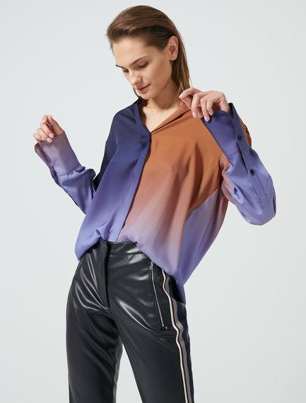 Camicia in twill con stampa sfumata Sportmax