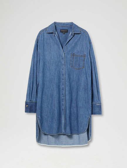 Oversized Denim Shirtdress