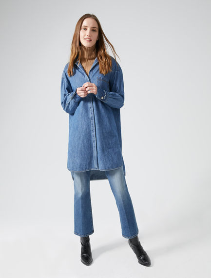 Oversized Denim Shirtdress Sportmax