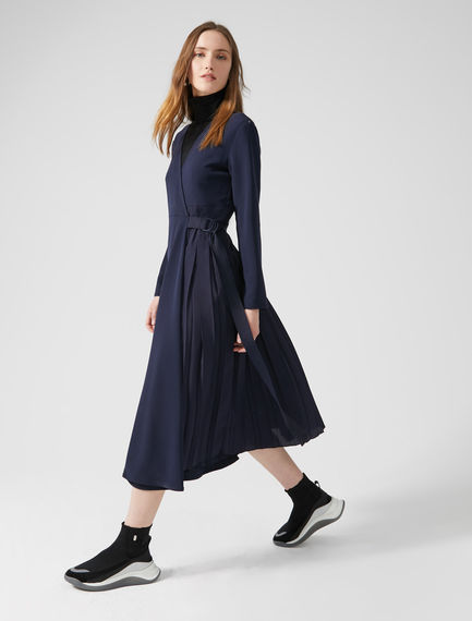 Pleated Ballet Wrap Dress Sportmax