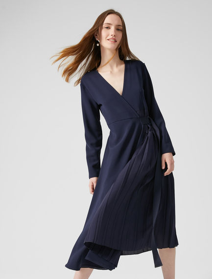 Pleated Ballet Wrap Dress