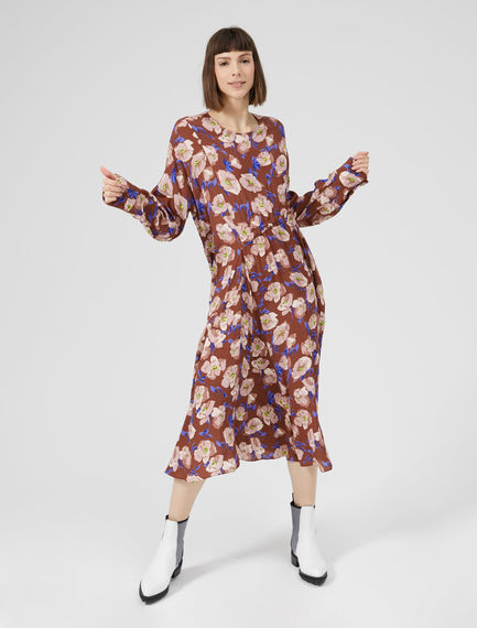 Crepe Floral Dress Sportmax