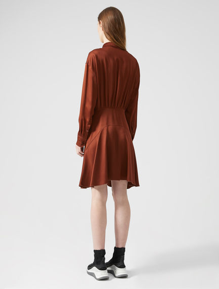 Bias-cut Satin Shirtdress