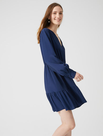 Tiered Crêpe A-Line Dress