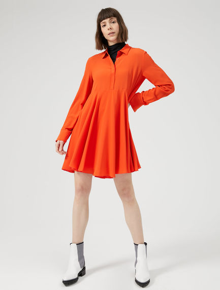 Colour Pop Silk Skater Dress Sportmax
