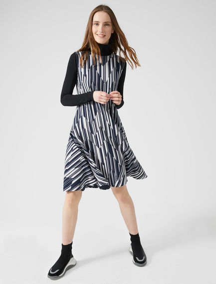Chevron Stripe Sleeveless Dress