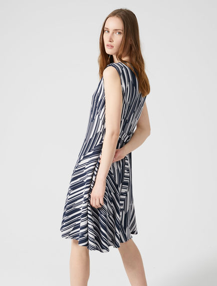 Chevron Stripe Sleeveless Dress Sportmax