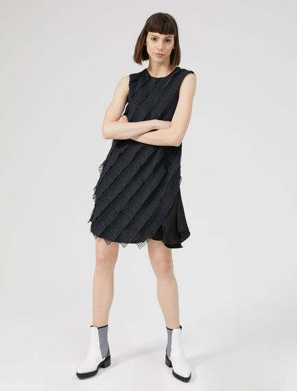 Twisted Silk Tulle Shift Dress Sportmax