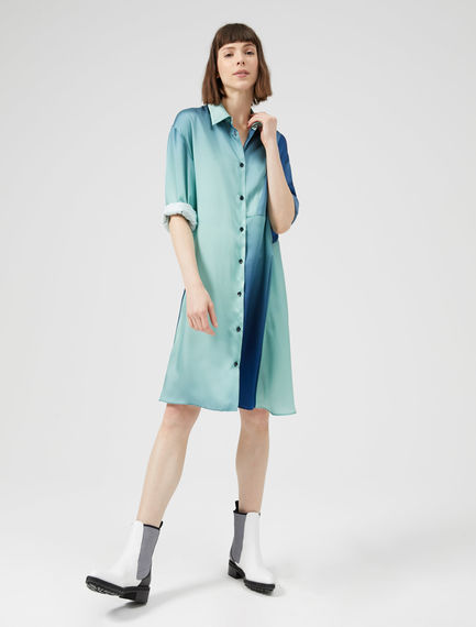 Graphic Degrade Shirtdress