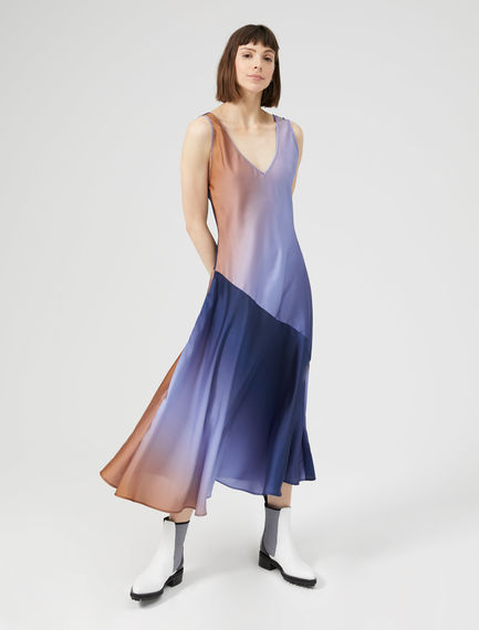V Back Asymmetric Slip Dress Sportmax