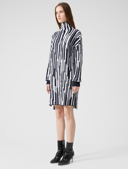 Spliced Stripe Cashmere Dress