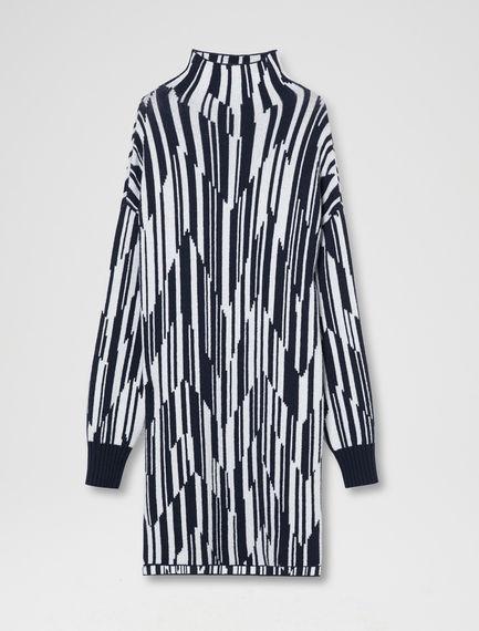 Spliced Stripe Cashmere Dress