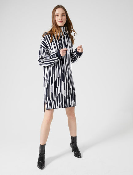 Spliced Stripe Cashmere Dress Sportmax