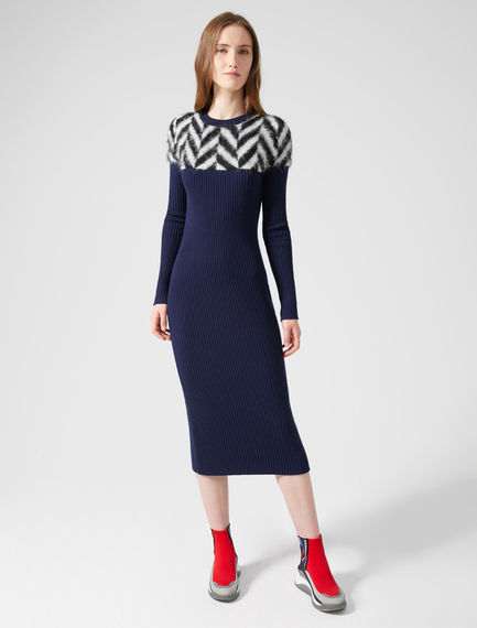 Alpaca Chevron Sweater Dress