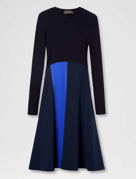 Colour-Shift Ribbed Dress