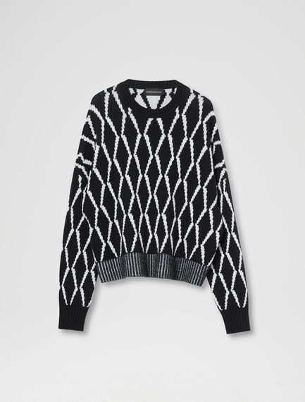 Diamond Knit Cashmere Sweater