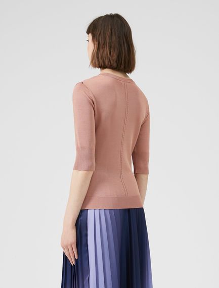 Drop Stitch Viscose Sweater