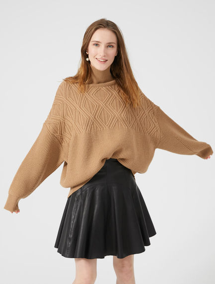 Funnel Neck Jacquard Wool Sweater Sportmax