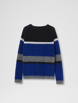 Block Stripe Alpaca Sweater